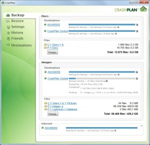 CrashPlan Adv. Backup